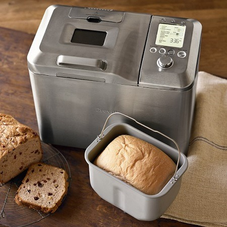 Breville bread maker with bread.