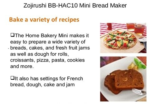Recipes For Zojirushi BB-HAC10 Mini Bread Maker